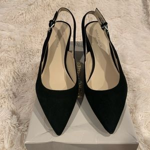 NWT black suede Marc fisher slingback pumps (7.5)